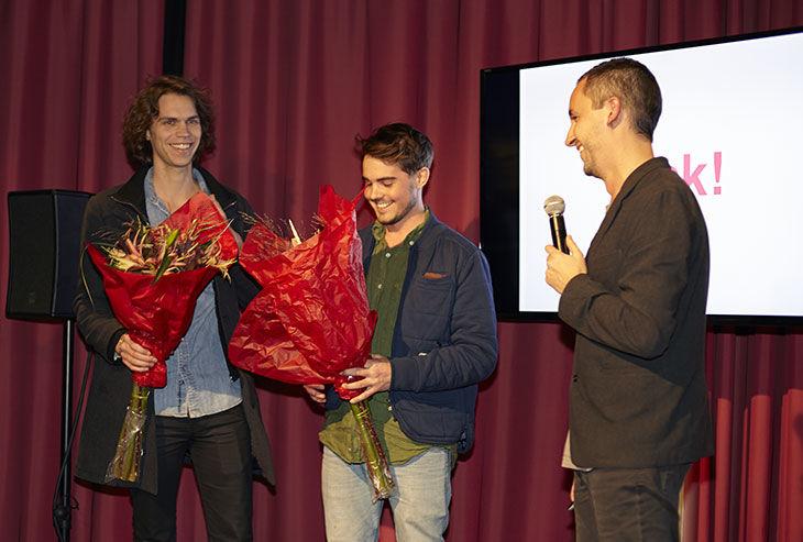 Vinnarna! Erik Carlson och Olof Lindh