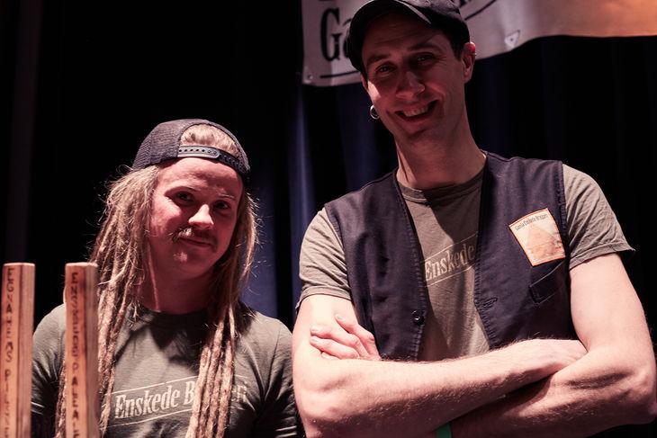 Robin Johnander med kollega, Gamla Enskede Bryggeri