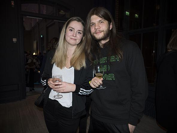 Frasse Levinsson med vän.
