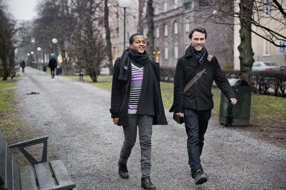 Kompisarna Rasmus och Nabiyat. Foto: Henry/Kompis Sverige