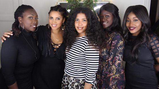 Black Vogue-gänget med Valerie Kyeyune Backström i mitten.
