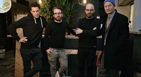 Joel Söderbäck, Felix Bergman, Andreas Bergman och Simon Åhnberg.