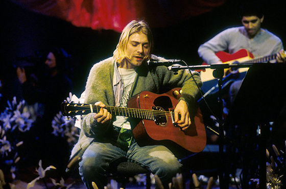 Kurt Cobain i MTV Unplugged, 1993.