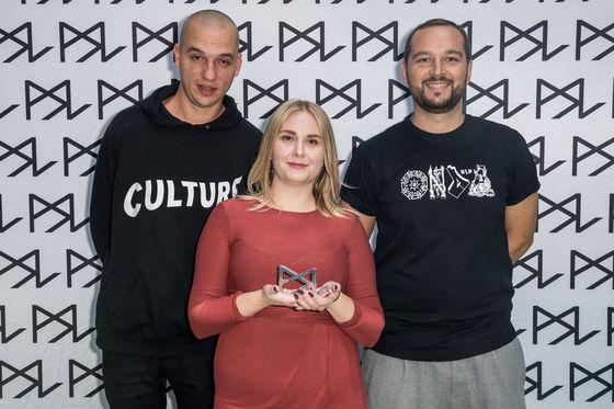 Petter Hallén, Sanna Berg och Hugo Wittorf.