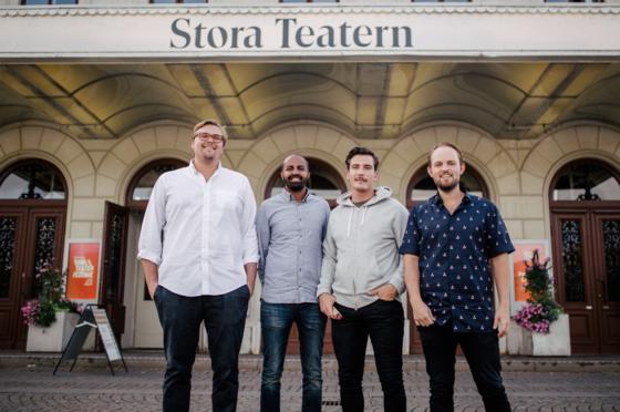 Krögarna. Från vänster: Marcus Martinsson, Maher Salhi, Alfred Karlsson, Linus Johansson.