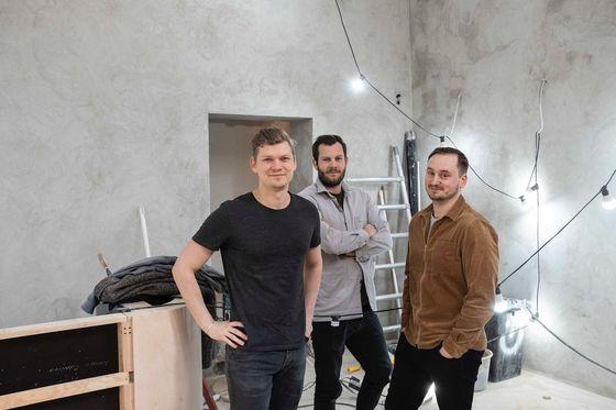 Simon Ramn Alenius, Anton Surtell och Axel Ohlson.