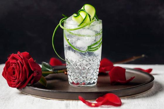 Hendrick's gin och tonic, med gurka.