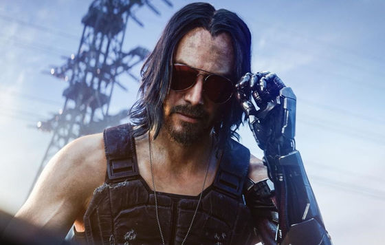 Keanu Reeves som Johnny Silverhand i Cyberpunk 2077.