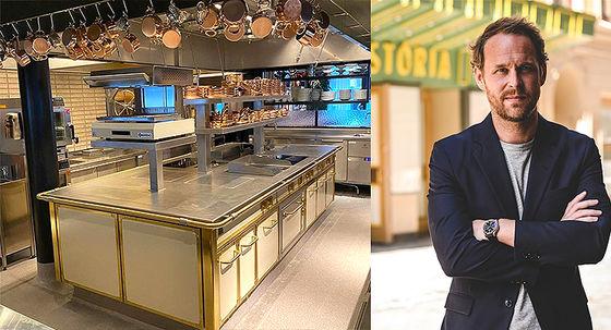 Snart slås plattorna på i köket på Brasserie Astoria.