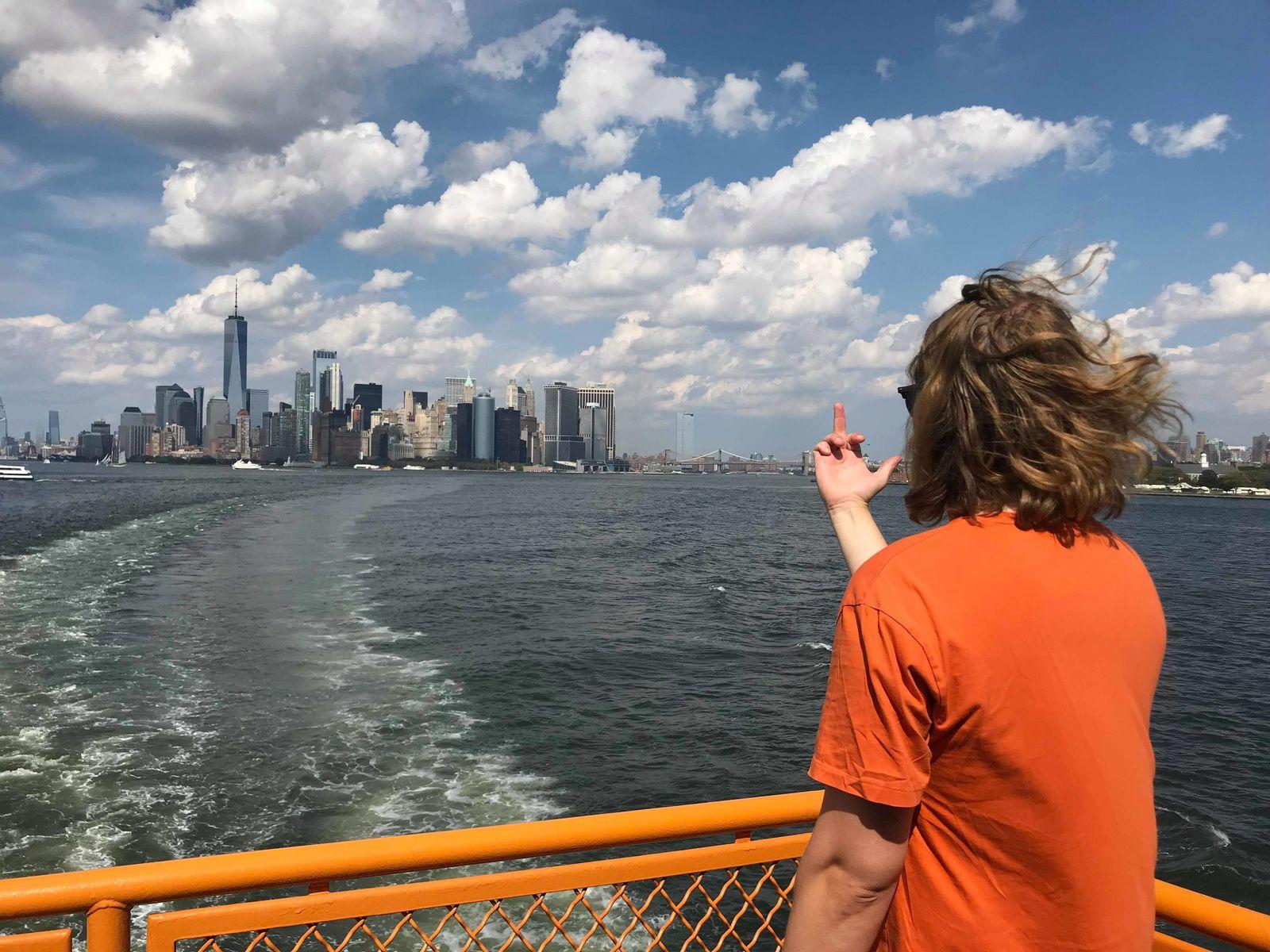 Anton kör Fuck You, New York i New York. Foto Tilde Hansen